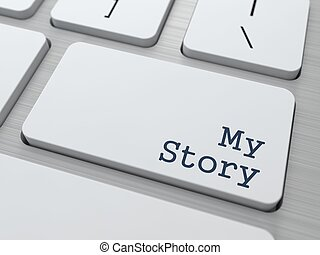 White Keyboard with My Story Button - My Story - Button on...