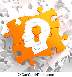 Psychological Concept on Orange Puzzle. - Psychological...