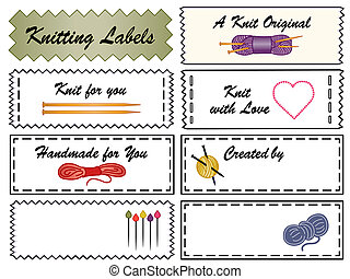 Knitting Sewing Labels