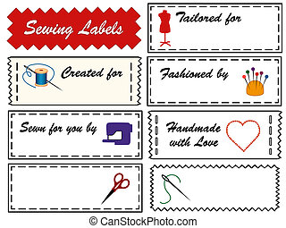 Sewing and Tailoring Labels - Sewing Labels, copy space to...