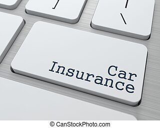 White Keyboard with Car Insurance Button - Car Insurance -...