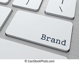White Keyboard with Brand Button. - Brand - Business...
