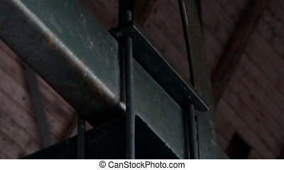 Big bolts on steel beams rusty rectangular metal - Big bolts...