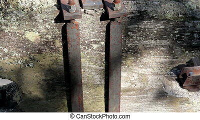 Steel bell yoke tightly bolted exterior of a bell - Steel...