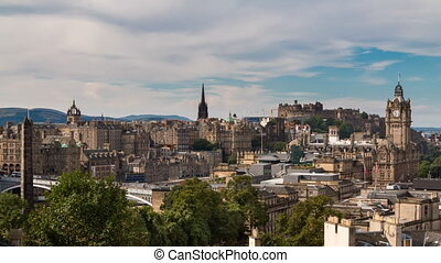 Edinburgh old town Timelapse from carlton hill available in...