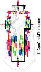 font Illustration LETTER t Vector illustration