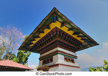 Monastry architecture, Sillery Gaon, Sikkim, India