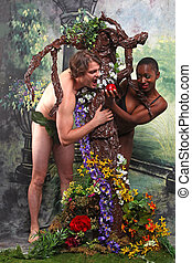 Adam and Eve With Added Theme of Interracial Unions -...