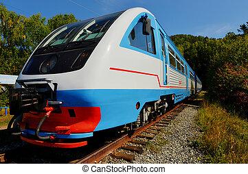 The Circum-Baikal Railway Train - a historical railway that...