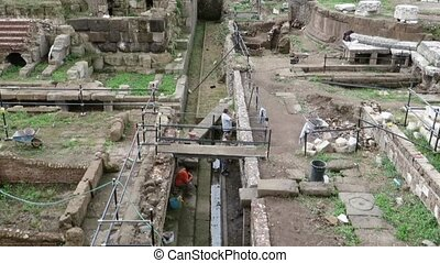 renovating Ancient Roman ruins