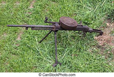 máquina, arma de fuego, -, mundo, guerra, II,...
