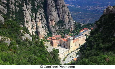 Montserrat mountain and abbey