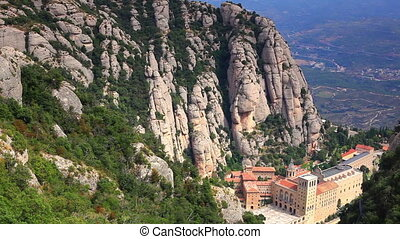 Montserrat mountain and abbey.