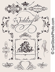 Design Ornate Elements And Wedding Page Decoration.