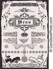 Design Ornate Old Elements And Page Decoration