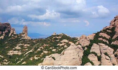 Montserrat mountain panorama. - Montserrat mountain.