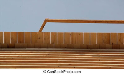 Cedar wooden shingles roof roofing roofworking carpenty -...