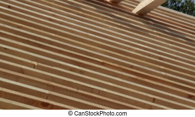 Cedar wooden shingles roof roofing roofworking carpenty...