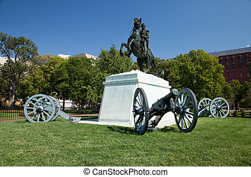 Andrew Jackson in Lafayette Square, Washington DC