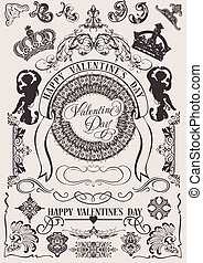Vector set. Valentine's Design Elements. Elements For Page...