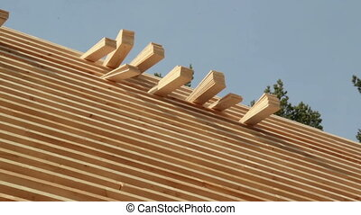 Wood Cedar wooden shingles roof roofing roofworking carpenty...