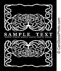 One Color Ornate Roses text Banner