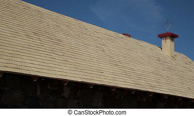 Whole side Cedar wooden shingles shake roof roofing roofwork...