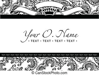 One Color Vector Small Title Frame And Pattern