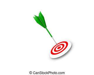 Arrow Bullseye - Green arrow hits bullseye