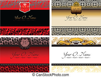 Set Of Four Vector Color Small Title Frame And Pattern