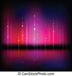 Abstract vector illustration of a northern light type sky