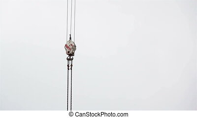 Equipment with hook string and chain dangling - Equipment...