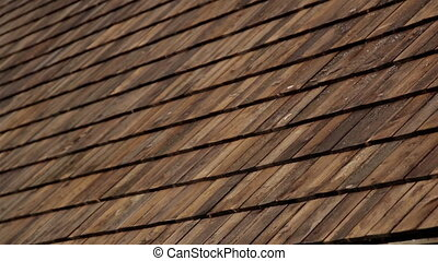 Cedar wooden shingles roof roofing roofworking taring -...