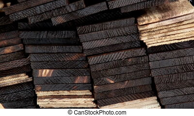 Cedar wooden shingles roof roofing pine tar column - Wood...