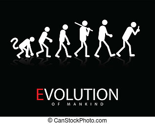 Abstract vector illustration of the evolution theory to...