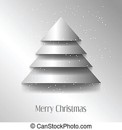 Abstract vector illustration of a christmas tree