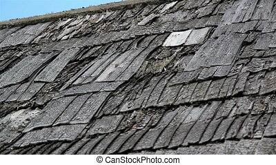 The tattered black roof is about to cause some problems for...