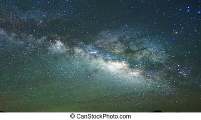 night sky timelapse - galaxy timelapse
