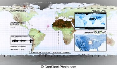 Satellite surveillance the earth