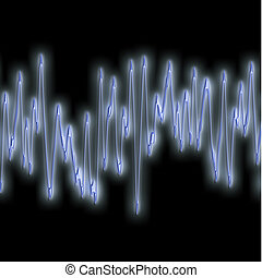 extreme sound wave - great image of very bright and glowing...