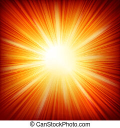 Star burst red and yellow fire EPS 10 vector file included