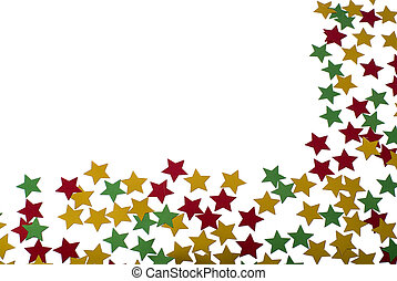 Star shape confetti christmas concept - Christmas decoartion...