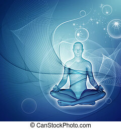 Meditation - Yoga Meditation - Digital graphic compilation....