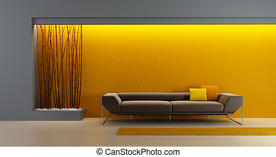 design of the longe room - 3d rendering of modern longe room