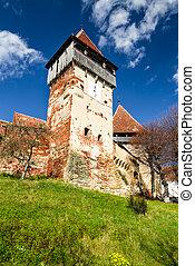 Fortified Church of Alma Vii, Transylvania landmark in Romania