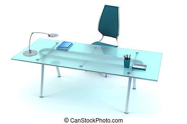 director\'s office 3d rendering - director\'s office...