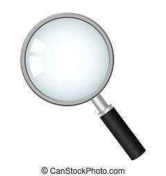 magnifying glass, vector icon