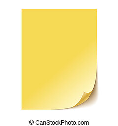 Empty yellow paper sheet. Vector EPS10 - Empty yellow paper...
