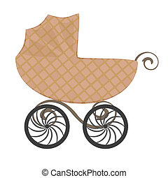 Isolated baby carriage