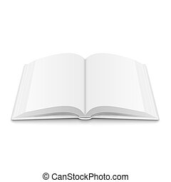 Blank opened book template with soft shadows. - Blank opened...